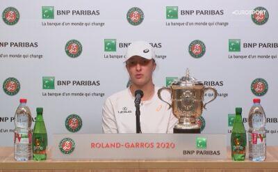 Iga Świątek na konferencji prasowej po finale French Open