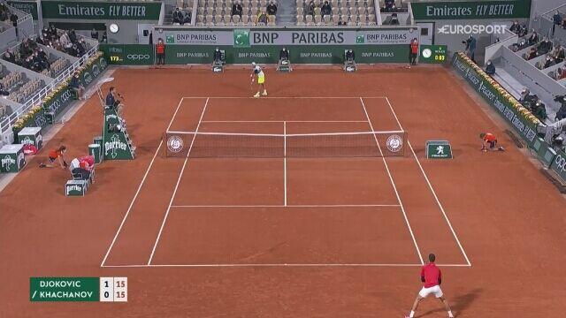Skrót meczu 4. rundy French Open: Novak Djokovic - Karen Chaczanow