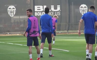 Valencia trenuje przed półfinałowym rewanżem Ligi Europy