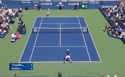 Skrót meczu Trungelliti - Nishikori w 1. rundzie US Open