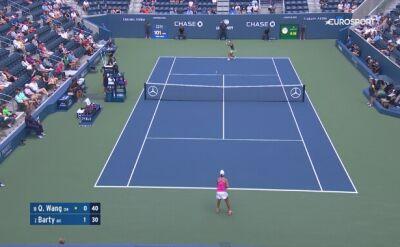 Skrót meczu Wang - Barty