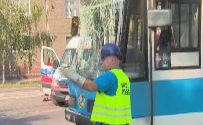 Zderzenie tramwaju z autobusem MPK. Policja o zdarzeniu