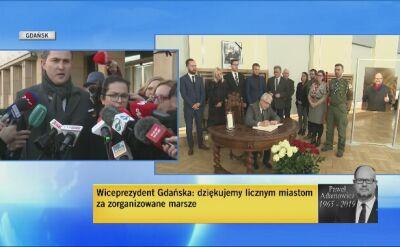 Piotr Grzelak o żałobie w Gdańsku