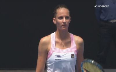 Skrót meczu Muchova - Pliskova w 1. rundzie Australian Open