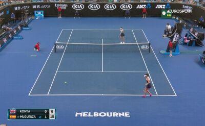 Skrót meczu Muguruza - Konta w 2. rundzie Australian Open