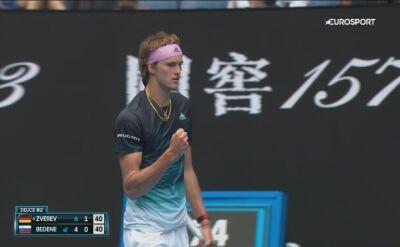 Skrót meczu A. Zverev - Bedene w 1. rundzie Australian Open