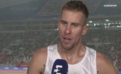 Marcin Lewandowski w dobrym nastroju po awansie do finału