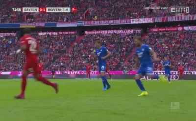 Gol Roberta Lewandowskiego w meczu Bayernu z Hoffenheim