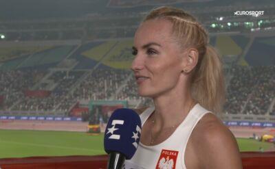 Justyna Święty-Ersetic zachwycona po awansie do finału biegu na 400 metrów