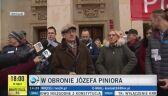 Józef Pinior podczas manifestacji we Wrocławiu