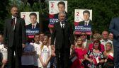 Pojedynek na transparenty. Jednego popiera Rydzyk, drugiego - Kaczyński