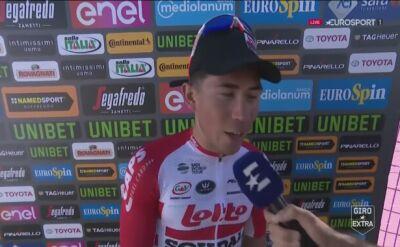 Ewan po wygraniu 11. etapu Giro d'Italia