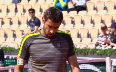 Skrót meczu Cilić - Fabiano z pierwszej rundy Roland Garros