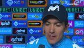 Carapaz po wygraniu 14. etapu Giro d'Italia