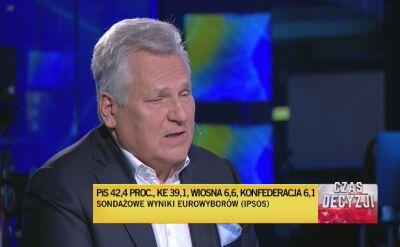 Aleksander Kwaśniewski o wyniku Wiosny