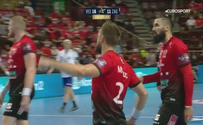 Skrót meczu Telekom Veszprem - PPD Zagrzeb w 2. kolejce Ligi Mistrzów piłkarzy ręcznych