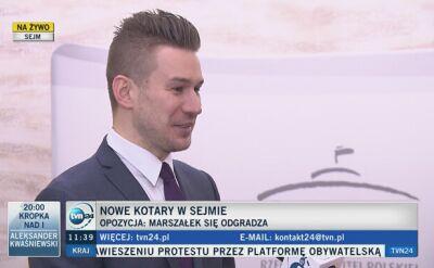 Rzecznik Kancelarii Sejmu: korytarz nie jest zamknięty, ale trzeba być umówionym z posłem