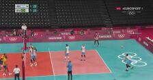 Tokio. Siatkówka. Argentyna 1:2 Brazylia w walce o medal