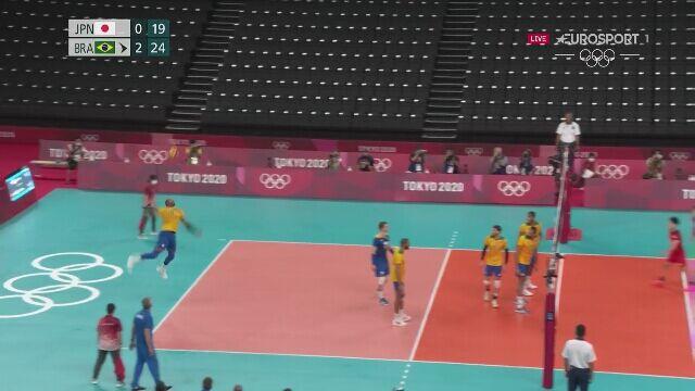 Tokio. Siatkówka. Brazylia pokonuje Japonię 3:0