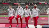 Tokio. Lekkoatletyka: cała ceremonia dekoracji sztafety 4x400 kobiet