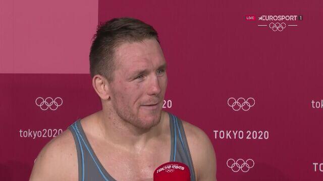 Tokio. Tadeusz Michalik po zdobyciu brązowego medalu w zapasach