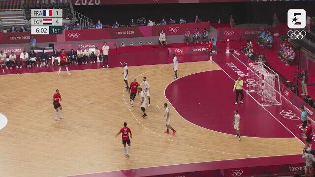 Tokio. Skrót meczu Francja - Egipt w piłce ręcznej mężczyzn