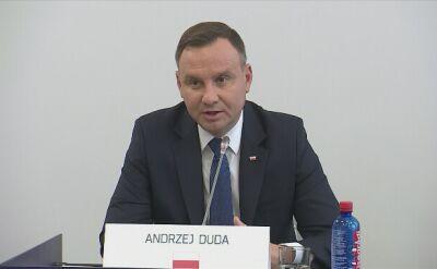 Andrzej Duda na spotkaniu V4