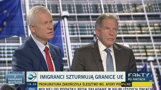 """Marek Jurek o problemie uchodźców w """"Faktach po Faktach"""""""