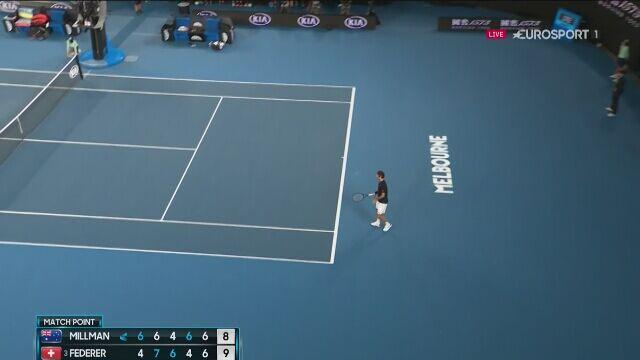 Federer wytrzymał wojnę nerwów i pokonał Millmana