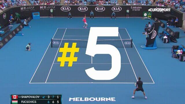 TOP 5 zagrań 1. dnia Australian Open