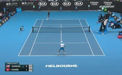 Skrót meczu Federer - Johnson