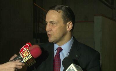 Sikorski: Wzywamy obie strony do dialogu