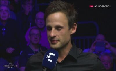 David Gilbert po przegranym finale English Open