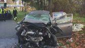 Dwie osoby zmarły w czołowym zderzeniu samochodów