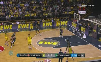 Skrót meczu EWE Baskets Oldenburg - Unicaja Malaga