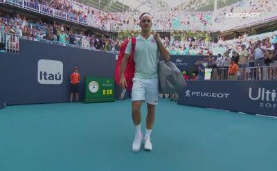 Skrót meczu Federer – Krajinović w Miami