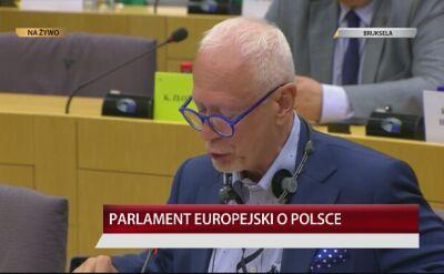Michał Boni podczas debaty o Polsce