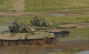 Czołgi PT-91 podczas ćwiczeń