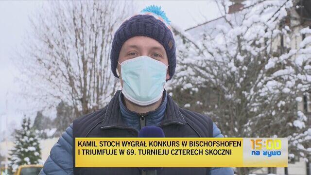 Żona zaskoczyła Kamila Stocha podczas konferencji prasowej