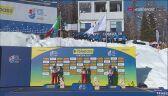 Podium supergiganta kobiet podczas MŚ w narciarstwie alpejskim w Cortinie d'Ampezzo