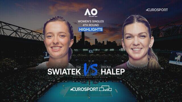 Skrót meczu 4. rundy Australian Open Iga Świątek - Simona Halep