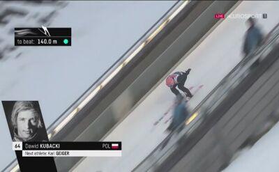 Skok Dawida Kubackiego z 1. serii konkursu w Lillehammer