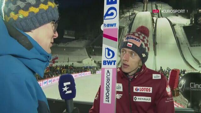 Dawid Kubacki po konkursie w Lillehammer