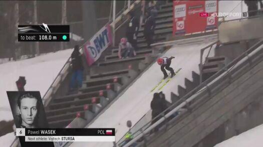 Skok Pawła Wąska z kwalifikacji w Lillehammer