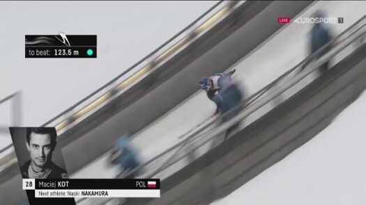 Skok Macieja Kota z kwalifikacji w Lillehammer