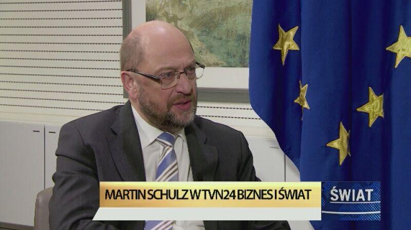 """Martin Schulz w programie """"Świat"""" wspomina o Polsce"""