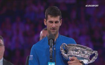 Djoković po finale Australian Open