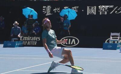 Skrót meczu Bautista-Agut - Tsitsipas w ćwierćfinale Australian Open
