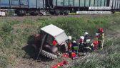 Wypadek na przejeździe kolejowym. Nie żyje traktorzysta