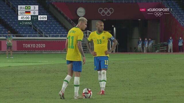 Tokio. Piłka nożna mężczyzn. Brazylia - Niemcy 3:0 (gol Richarlisona)